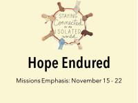 Hope Endured